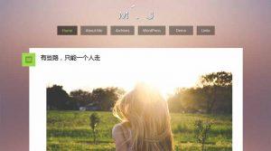 WordPress单栏个人博客模板presence