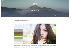 JJLin简洁文艺类WordPress个人博客模板Life_style
